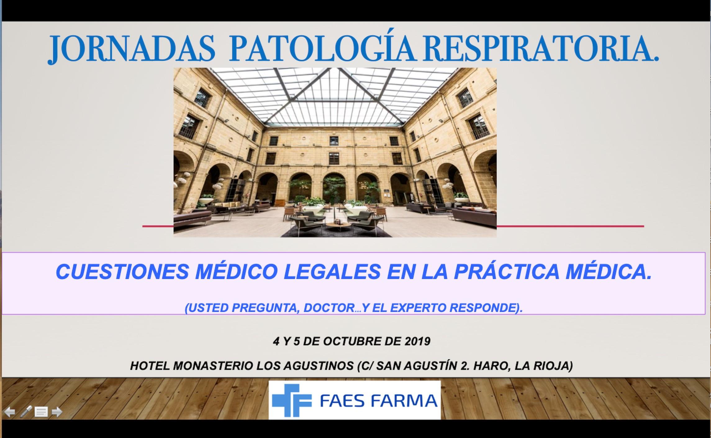 Jornadas de Patologia Respiratoria en Haro